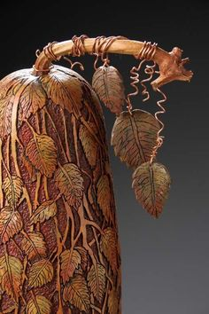 Hand-carved gourd