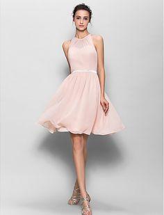 blush bridesmaid dress // pretty + feminine