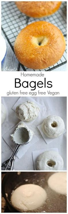 Gluten Free Bagels Recipe (Vegan Egg Free)- Chewy and dense, you'll never know these bagels are gluten free and egg free. PetiteAllergyTreats: