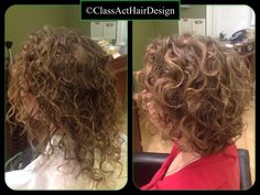 A new shape for these over layered curls.