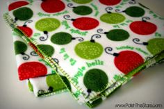 Polish The Stars: Fleece Blanket with Blanket Stitch Tutorial