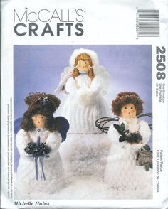 McCall's 2508 Soft Cloth Craft ANGEL DOLL by vintagepatternstore