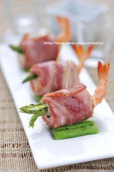 Bacon shrimp roll_Shrimp Recipes_China Food Menu - best chinese food and chinese recipes Best Chinese Food, Chinese Menu, Shrimp Rolls, Asian Recipes, Chinese Recipes, Healthy Snacks, Healthy Recipes, China Food, Fish Dinner