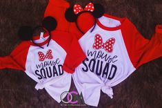 Mouse Squad Raglan, Family Disney Vacation Shirts, Matching Mother/Daughter Shirts- Raglan - One Crafty Momma Disney World Shirts, Disneyland Family Shirts, Family Vacation Shirts, Disney Vacation Shirts, Disney Shirts For Family, Disneyland Trip, Disney World Trip, Disney Vacations, Disneyland Ideas
