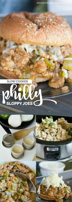 Slow Cooker Philly Sloppy Joes via @spaceshipslb