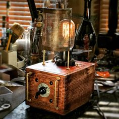 Brick House Red Cigar Box Desk Lamp CL005 By CreatureAndApe | Cigar Box  Lamps | Pinterest | Cigar Boxes, Cigar And Desk Lamp
