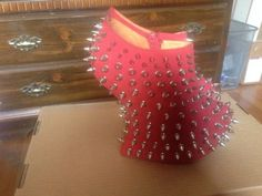 Red-Shadow-Stud-Spikes-by-Jeffrey-Campbell-Sz-7-5-Platforms-Boots-Heelless