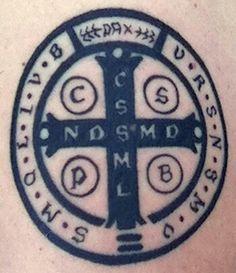 Cross of St. Benedict Tattoo