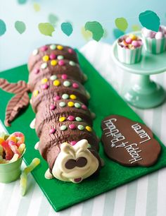 Personalised Giant Colin the Caterpillar Cake (Serves Giant Chocolate, Chocolate Sponge, Chocolate Thunder, Chocolate Cakes, Chocolate Buttercream, Buttercream Cake, Colin The Caterpillar Cake, Fruit Sponge Cake, Rustic Cake Toppers