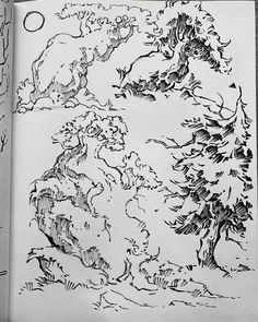 Background Drawing, Landscape Concept, Environment Design, Art World, Art Inspo, Amazing Art, Art Reference, Concept Art, Art Drawings