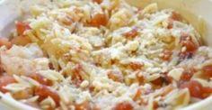 Κριθαρότο με γαρίδες, φέτα και παρμεζάνα