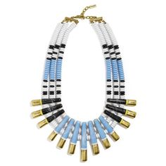 BaubleBar Tiziana Statement Necklace (220 BRL) ❤ liked on Polyvore featuring jewelry, necklaces, baublebar, blue jewelry, blue necklace, collar jewelry and blue jewellery