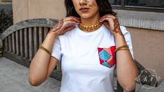 Hand embroidered Phulkari pocket on western streetwear. 5 S, Streetwear, Fitness Models, Outfit Ideas, Pocket, Embroidery, Cotton, How To Wear, Outfits