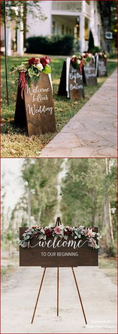 Burgundy fall wedding sign decor ideas burgundy wedding ideas 40 Burgundy Wedding Ideas for Fall and Winter Weddings Burgundy Wedding, Fall Wedding, Rustic Wedding, Our Wedding, Dream Wedding, Wedding Vows, Wedding Stuff, Wedding Venues, Wedding Flower Decorations