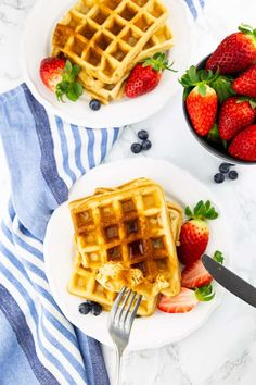 You are going to love these classic vegan waffles! They are super quick and easy to make and they are golden crispy on the outside and perfectly fluffy on the inside. They make the perfect vegan breakfast! Dairy Free Recipes, Vegan Recipes, Dairy Free Waffles, Vegan Foods, Vegan Meals, Vegan Breakfast, Cookie Recipes, Healthy Snacks, Delish