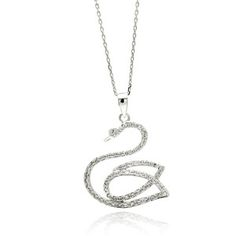 Come closer to the #Exquisite world of #Jewellery. A Sterling Silver #Necklace with delicate swan #Pendant will make you feel confident while wearing! Check out at: 	http://silverdepot.com/