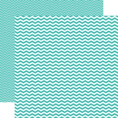 Echo Park - Totally Teal Collection - 12 x 12 Double Sided Paper - Teal Chevron at Scrapbook.com $0.89