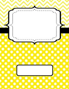 Yellow Binder Cover