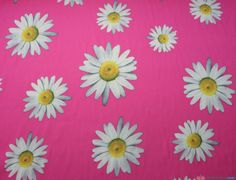 Silky Satin Large Daisy Pink Floral Fabric. Great for: Blouses, dresses, lingerie, pyjamas, kaftans and much more … WeaverDee.com