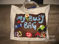 LOTS of busy bag activities for toddlers. Must sort through ones suitable for a long plane trip.