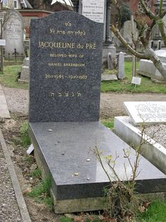 Jacqueline du Pre, Golders Green Cemetery, London
