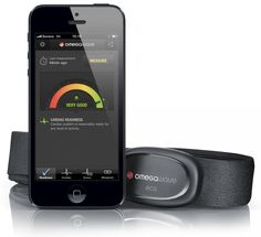"Omegawave. ""Readiness optimizer.""  Sensor + chest band + app. Measures heart rate, algorithms provide your '""overall readiness, cardiac readiness,  training zones, metabolic readiness.""  #HR #HRV"