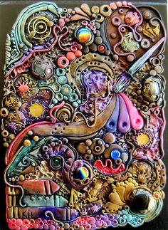 deviantART: More Like Bohemian Blues Polymer Clay Journal by ~RoyalKitness
