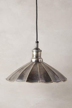 Scalloped Brass Pendant Lamp - anthropologie.com