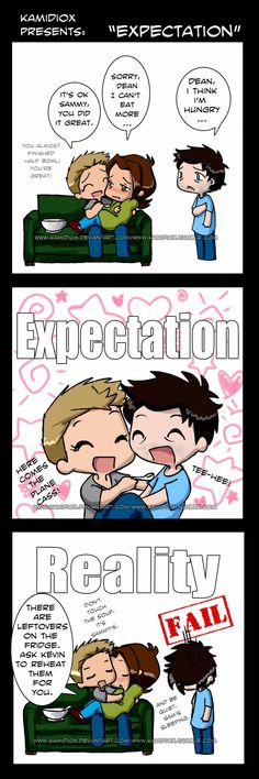 Expectations Vs Reality by KamiDiox on deviantART --> in fact, the last frame fulfilled all my expectations.
