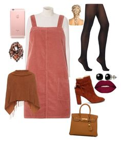 """Cozy Day Out🍂🍁 Fall Styles🍁"" by cutiepiemahoof01 ❤ liked on Polyvore featuring A.L.C., Dorothy Perkins, Wolford, Sole Society, BP., Belk & Co., Smashbox, Samoon and Hermès"