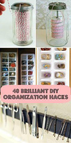 Some neat organization tricks... Get it? Neat? I'm brilliant :)