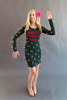 This cactus costume checks all the boxes: It's cute, easy, and has a pop culture reference.