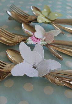 mamas junk: Spring Delicate butterflies