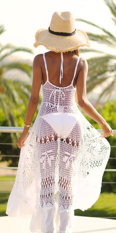 White Cover-up. Perfect for those summer beach getaways.