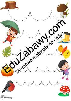 Jesień: Szlaczki (10 kart pracy) Jesień Karty pracy Karty pracy (Jesień) Szlaczki Edc, Snoopy, Character, Lettering, Every Day Carry