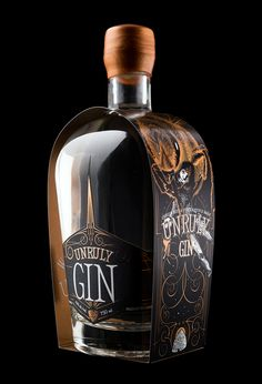 Unruly Vodka and Unruly Gin Agency: Hired Guns Creative Designer: Richard Hatter Client: Wayward Distillation House Photography: Sean Fenzl Type Of Work: Commercial Work Country: Canada Alcohol Bottles, Liquor Bottles, Beverage Packaging, Bottle Packaging, Vodka, Tequila, Gin Brands, Gin Bar, Dry Gin