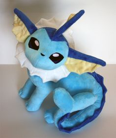 Vaporeon :D I want one of every evolution, as well as eevee! Pokemon Merchandise, Pokemon Craft, Pokemon Toy, Goodies Manga, Chihiro Y Haku, Poker, Pokemon Birthday, Cute Stuffed Animals, Cute Plush