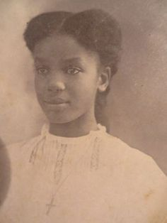 C 1900 Antique Cabinet Photo Black African American Beautiful Young Girl w Cross | eBay