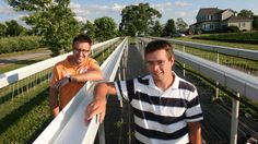 ideas for growing strawberries | Marty Verhey, left, and Nico Verhoef stand in their first strawberry ...