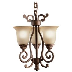 Kichler Pendant Lights in Tannery Bronze W/ Gold Accent Finish | 2215TZG | Destination Lighting