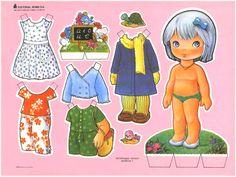 Bonecas de papel: Bonecas de papel cabeçudas II