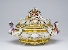 Sewing Box  Made at the Meissen porcelain factory, Meissen, Germany, 1710 - present  Geography: Made in Meissen, Germany, Europe Date: c. 1853-55 Medium: Hard-paste porcelain with enamel and gilt decoration