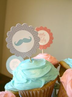 Gender Reveal Party Decorations Lips and by MHeckelDesign on Etsy