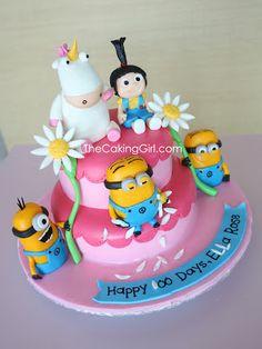 Despicable Me Minion Cake Pretty Cakes, Cute Cakes, Beautiful Cakes, Amazing Cakes, Minion Birthday, Birthday Cake, Birthday Ideas, Minion Party, 9th Birthday