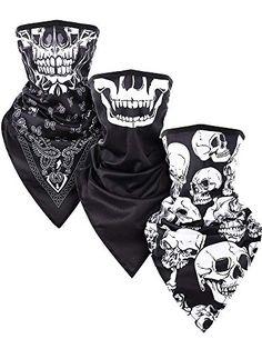 Pumpkin Print Scarf Halloween Neck Warmer Tube Snood Scarf Skull Face Mask Wrap