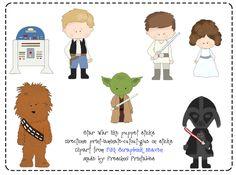 Preschool Printables: Free Star War Puppet Sticks