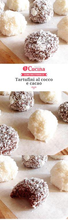 #Tartufi al #cocco e #cacao. Una ricetta della nostra utente Marta, entra anche tu nella #Community ed inviaci le tue ricette > bit.ly/1LiPYiP