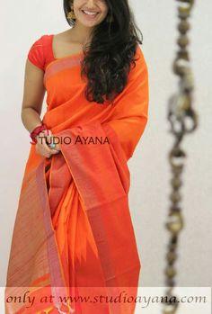 Saree Dress, Saree Blouse, Simple Sarees, Beauty Full Girl, Traditional Looks, Saree Styles, Beautiful Saree, Durga, India Fashion