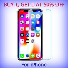 for Apple iPhone 4 - 8 Plus Tempered Glass Cell Phone Screen Protector 1 50 Iphone 4, Apple Iphone, Cell Phone Screen Protector, My Ebay, Glass, Stuff To Buy, Products, Drinkware, Corning Glass