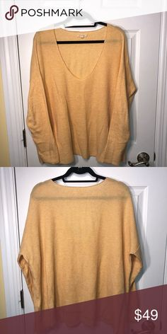 a85fed76a7 Eileen Fischer Organic Cotton Sweater Buttery soft yellow color